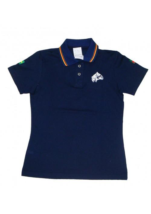 Polo Tajol Feminina Cavalo Crioulo RGS Azul Marinho