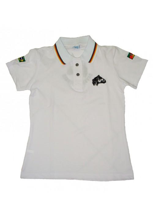 Polo Tajol Feminina Cavalo Crioulo RGS Branca