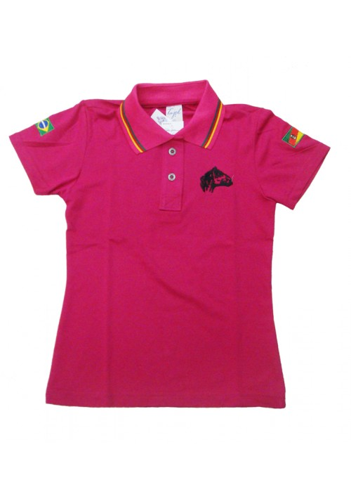 Polo Tajol Feminina Cavalo Crioulo RGS Pink