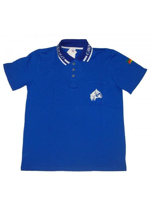 Polo Tajol Masculina Cavalo Crioulo Azul Royal