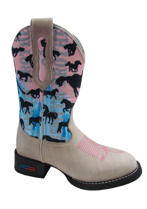 Bota Texana Smith Brothers Feminina Cavalos