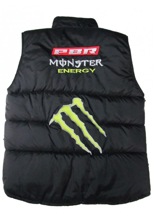 Colete PBR Masculino Preto/Azul New Monster