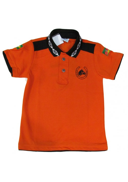 Polo Infantil Cavalo Crioulo Pampa Laranja