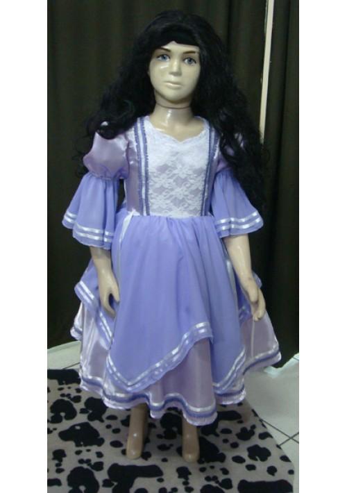Vestido de Prenda Infantil Lilás