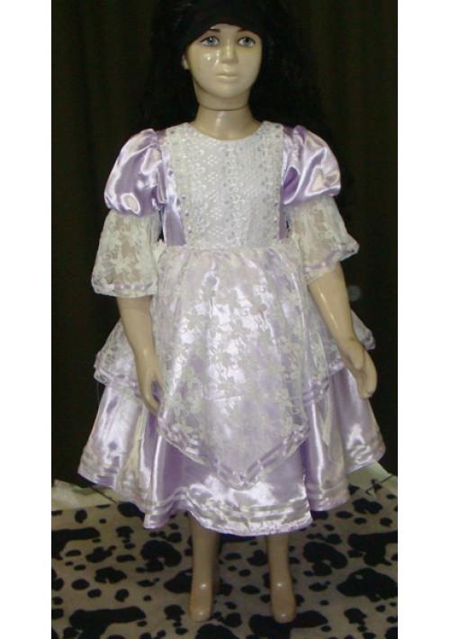 Vestido de Prenda Infantil Lilás claro
