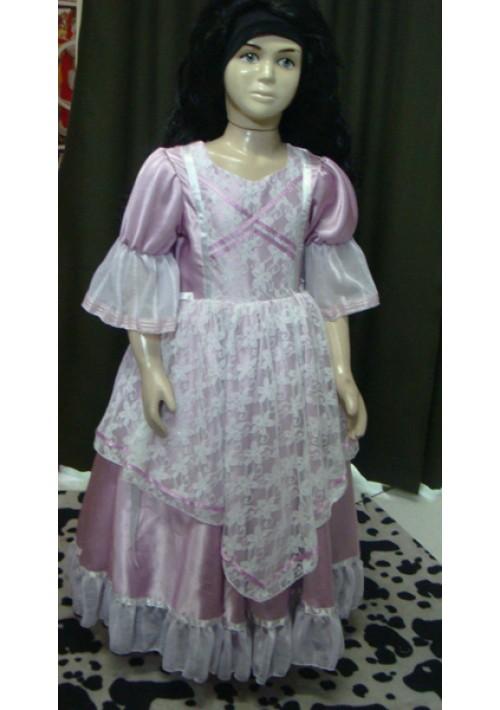 Vestido de Prenda Infantil Lilás G