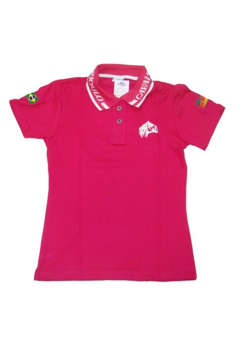 Polo Tajol Feminina Cavalo Crioulo Pink