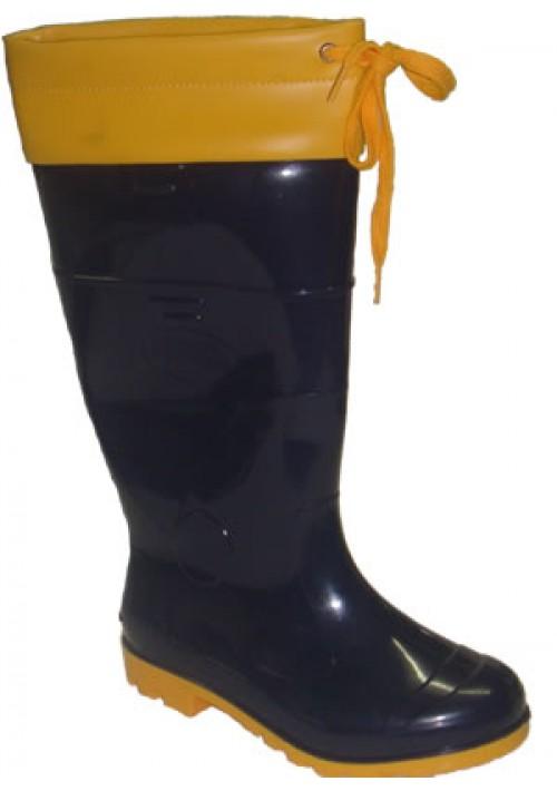 Bota de Borracha Azul/Amarelo